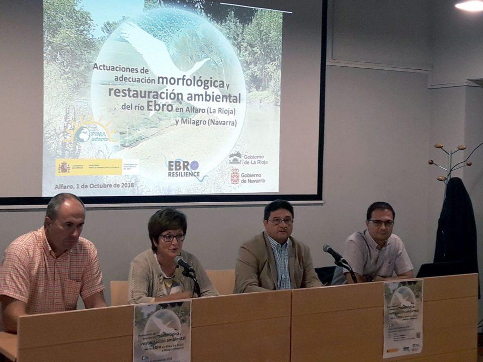 Reunión en Alfaro presentando el proyecto restauración Ebro en Milagro y Alfaro